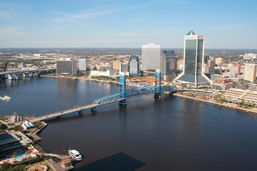 Blue Bridge and Beautiful Sky Jacksonville Florida