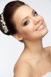 Girl with bridal hairstyle and makeup