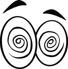 Black And White Hypnotized Cartoon Eyes