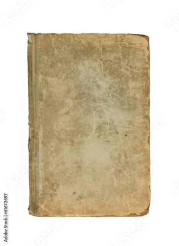 Old cover of book on a white background