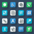 Pharmacy. Healthcare flat icons. Colorful