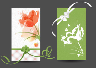 Postcards with pictures of flowers
