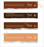 Brown Torn paper background with space for text