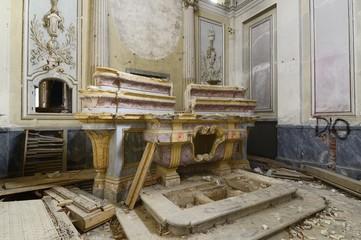old abandoned altar