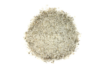 salt pump spices on white background
