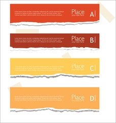 Orange Torn paper background with space for text