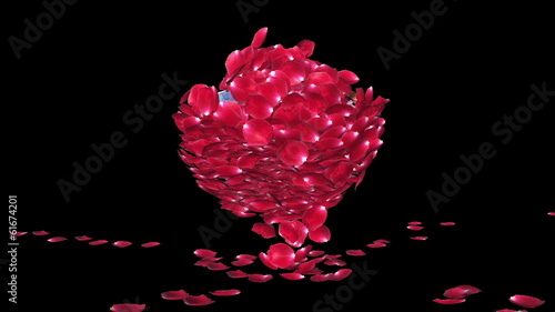Diamond attracting rose petals, Luma Matte