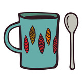 cup and teaspoon