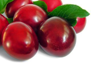 ripe plum,isolated on white