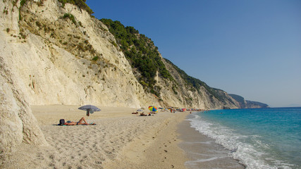 Egremni beach in Lefkada, Ionion sea, Greece