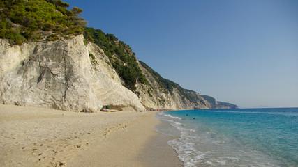 Egremni beach in Lefkada, Ionion sea, Greece