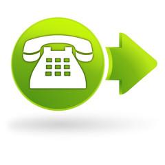 nous contacter sur symbole web vert