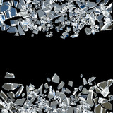 broken glass background