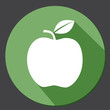 Green apple icon flat circle