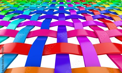 Regenbogen Farben Gitter 3