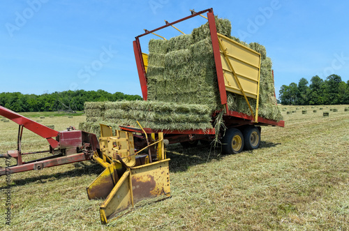 Farm Machinery in Hay Field