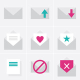 mail, envelope, letter, love, heart, vector, illustration, icon,