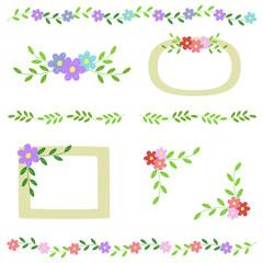 手描き花の飾り枠 / vector eps
