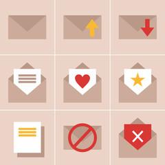 mail, envelope, letter, love, heart, vector, illustration, icon,