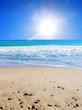sol de diamante en la playa