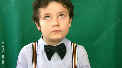 Child making funny faces at camera