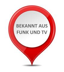 Schild bekannt aus Funk und TV