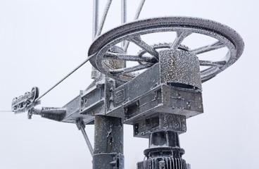 Old frozen cableway