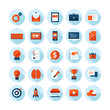 Set of flat icons for business, web design and marketing