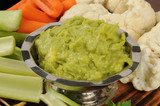 Veggies and guacamole dip