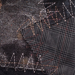 texture segment of the textile matter stitched threads