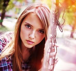 girl looks
