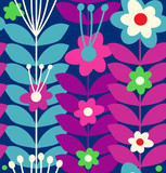 Floral stylish seamless pattern