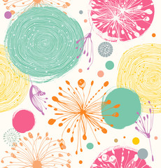 Seamless decorative pattern with abstract details