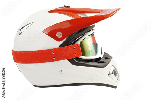 Enduro motorcycle helmet with goggles