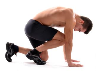 Atleta corredor cansado,agotado.