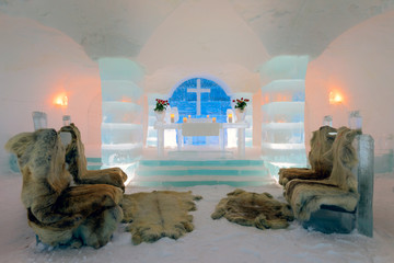 Ice Church in Sorrisniva, Norway
