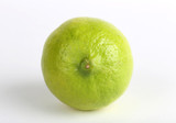 Fresh lime fruit on white background