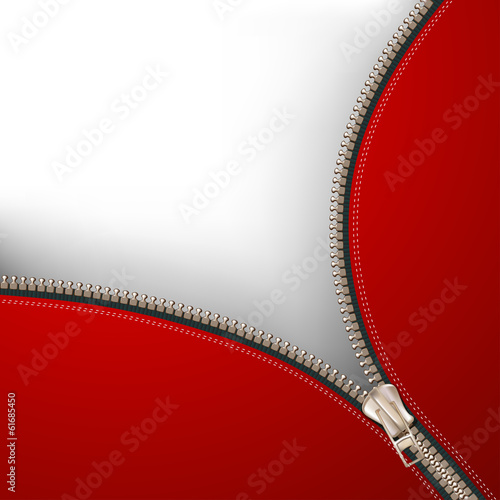 Background with metallic zipper