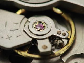 Orologio meccanico all'interno