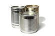 Tin Cans on White