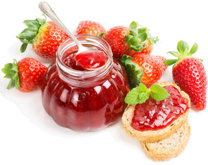 strawberry jam and berries
