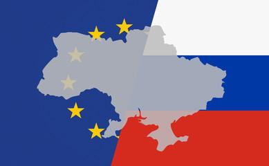 Ukraine Machtkampf (diagonal)