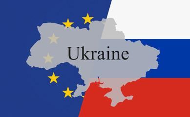 Ukraine Machtkampf (diagonal mit Font schwarz)