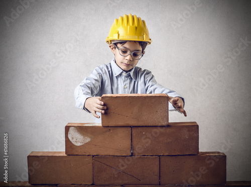 working kid