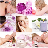 Wellness Auszeit Massage Collage