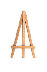 small easel on a white background