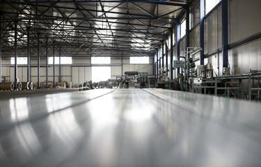 sheet tin metal production hall