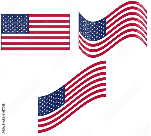 flags of United States vector