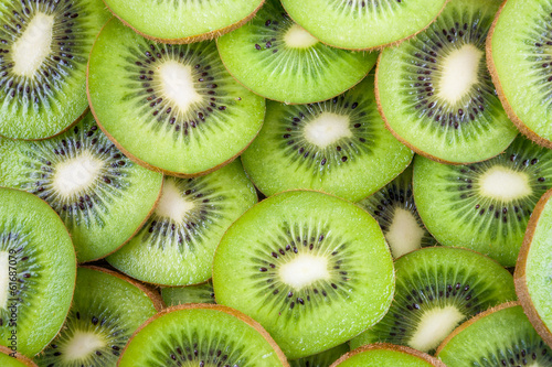 Background of kiwi slices