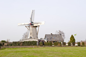 historic flour mill in countryside